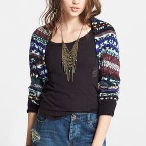 Free People NWT Medium Cardigan Carnival Shrug